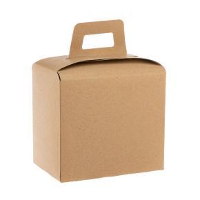 LUNCH BOX IN KRAFT COLOR 18X12X17cm 25pcs