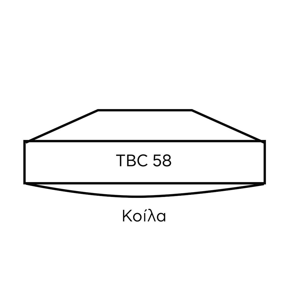 ΚΟΙΛΑ ΒΑΣΗ ΠΑΤΗΤΗΡΙΟΥ TBC 285001 58mm